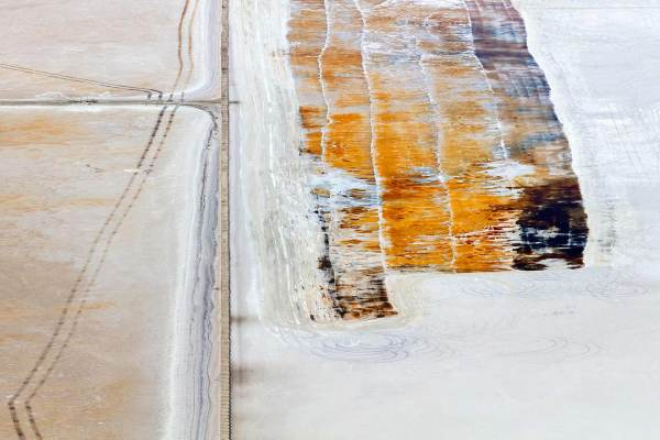 Fine art aerial photography of salt flats and slough of the San Francisco Bay