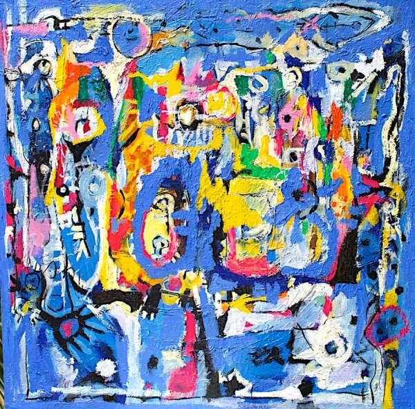Messages from the Sea original fine art on acetate by Yandi Monardo