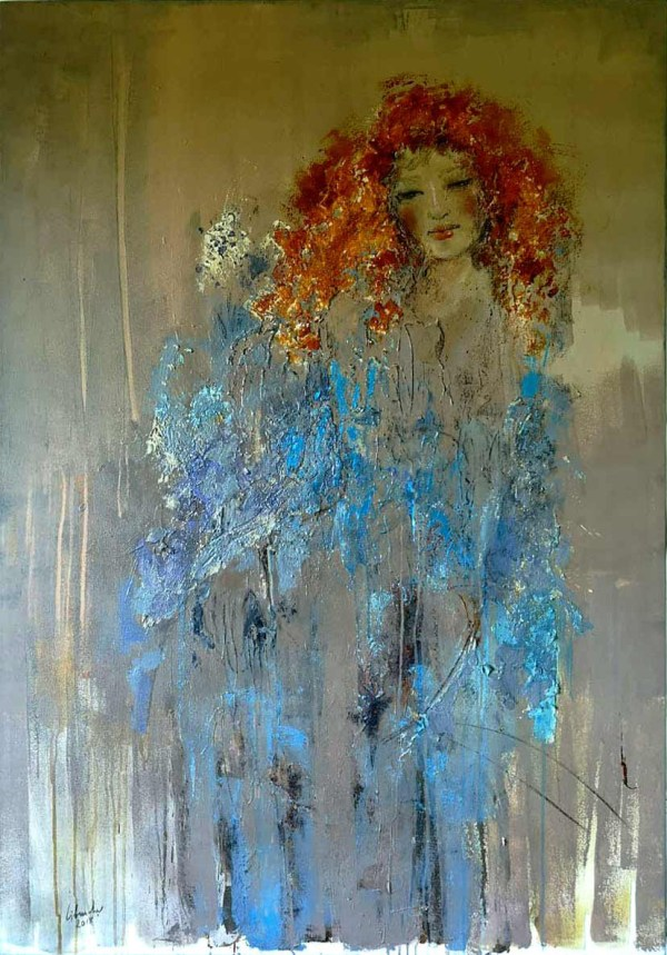 Fine art painting titled Ruby by Libuse Wiesendanger