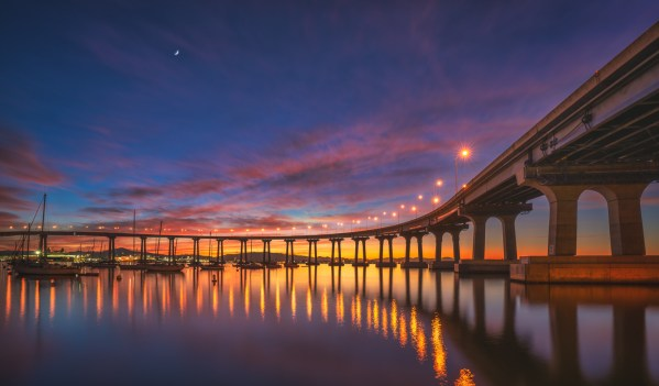 Sunrise Under Coronado Bridge - fine art photography by Scott Murphy