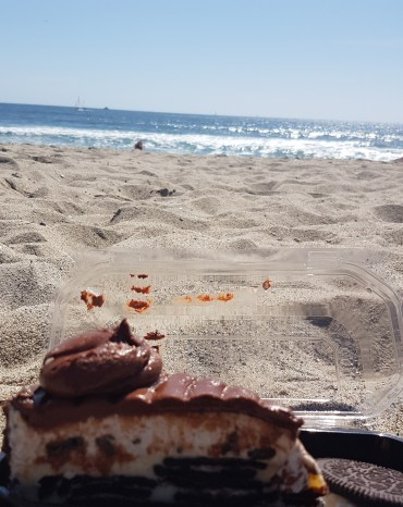 Cake by the Ocean with extra chocolate smears