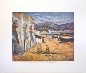 CAMPOL - REPAIR OF FISHING-NETS (LITHOGRAPH)