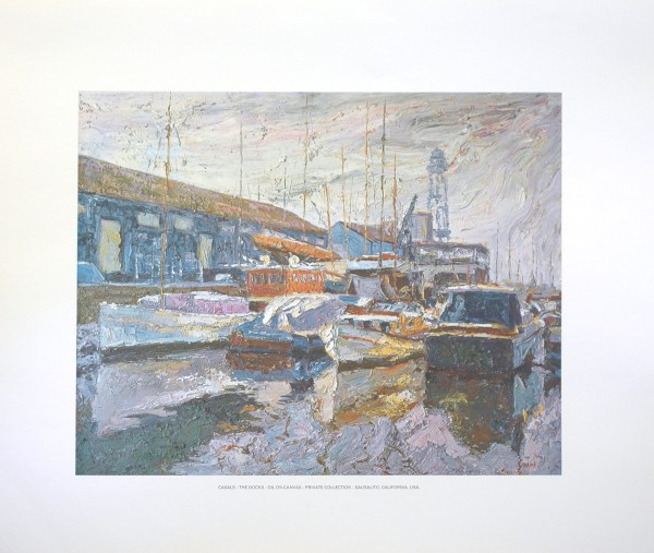 CASALS - THE DOCKS (LITHOGRAPH)