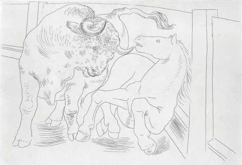 PABLO PICASSO, Taureau et Cheval dans l'Arène (Bloch 84