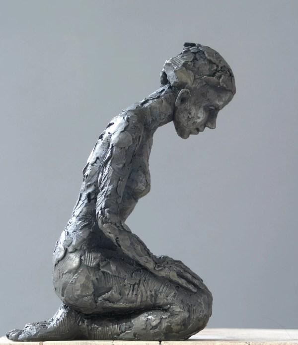 Carol Peace Kneeling Figure Sculpture