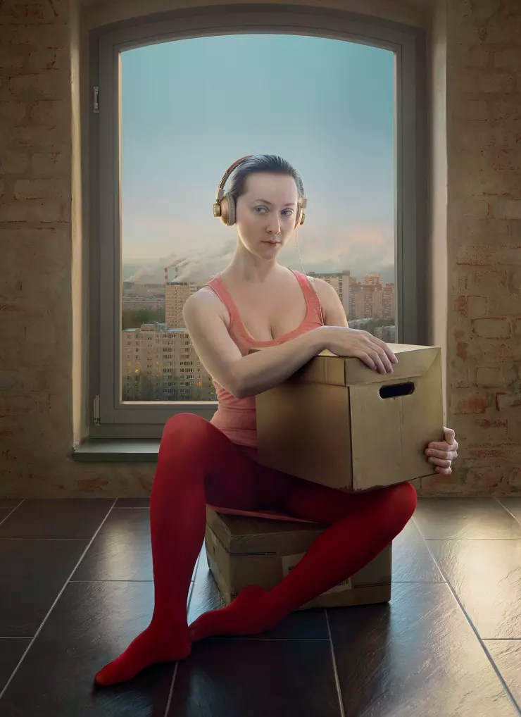 Katerina Belkina  Receiving Orders. Salome and St. John, 2017  Archival Pigment Print  100 x 72 cm  39 3/8 x 28 3/8 in  Edition of 8 plus 2 artist's proofs  Series: Revival