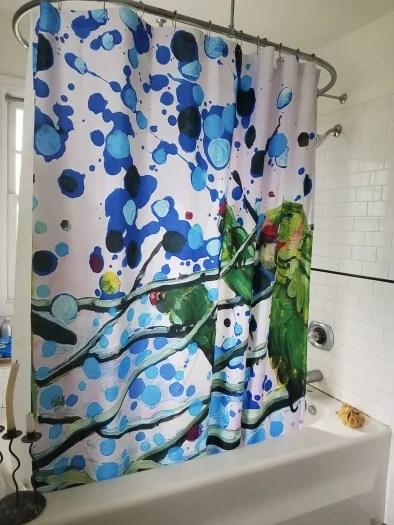 e tilly strauss parrot shower curtain