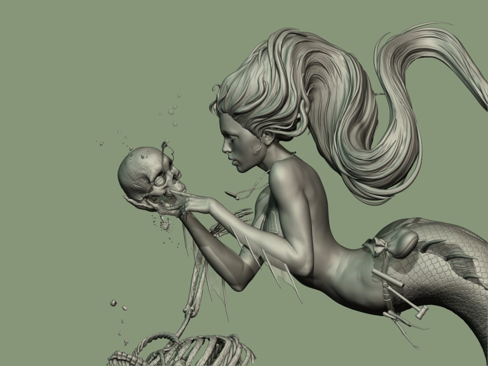 Mermaid Close Up by sam greenwell