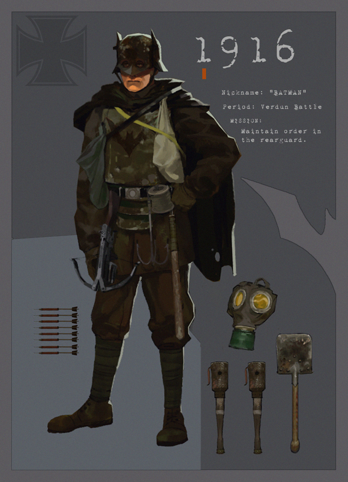 Batman 1916 by David Martin Gau