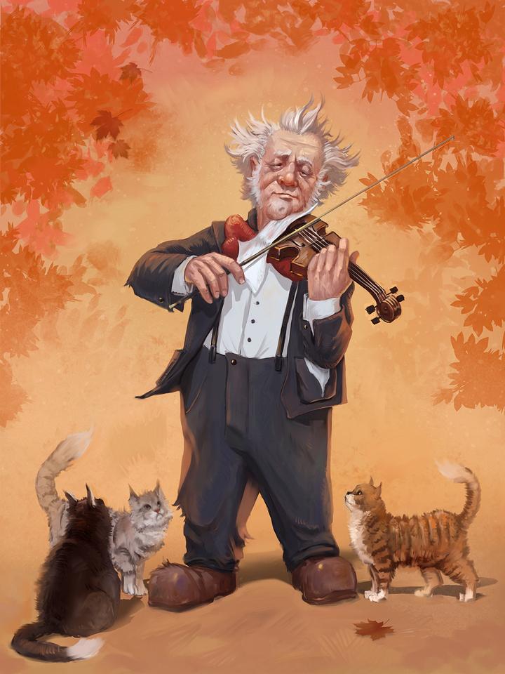 Musician by Valentin Tyustin