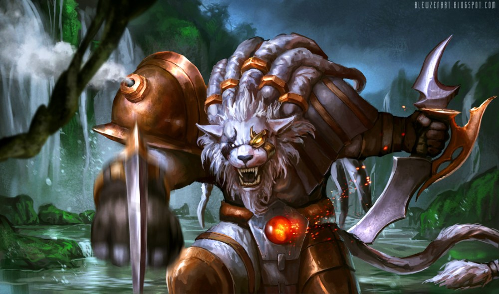 league of legends rengar fanart by blewzen