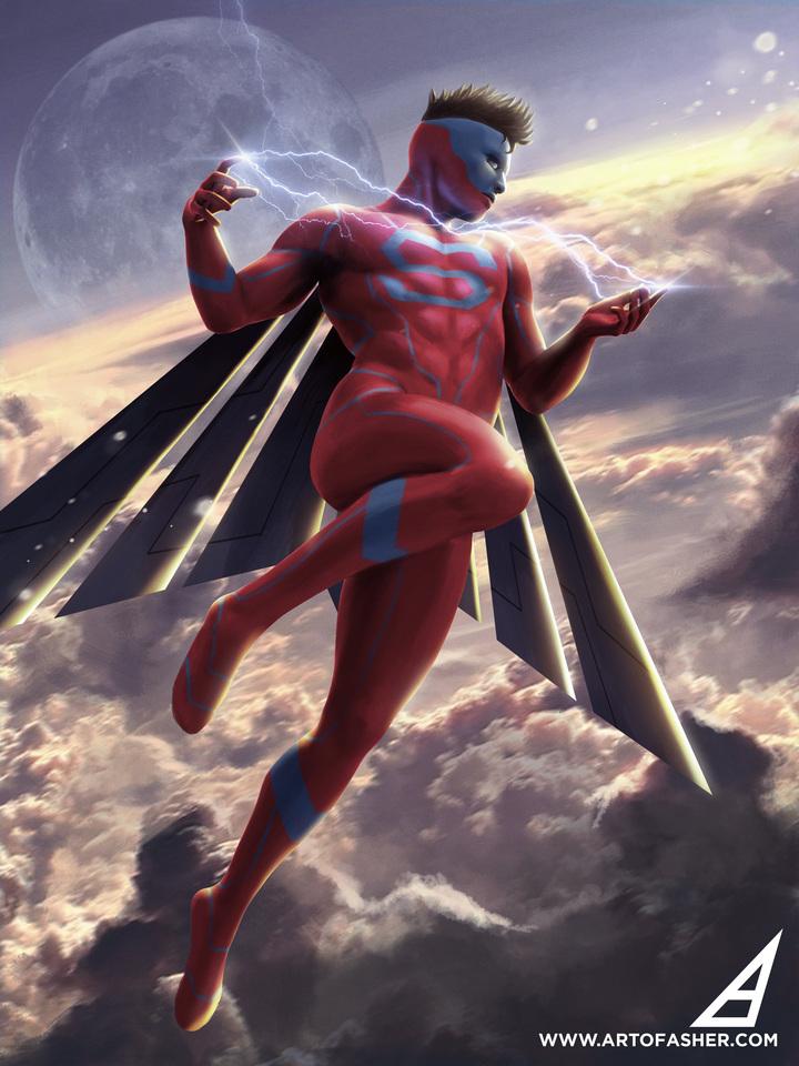 superman redesign by artofasher