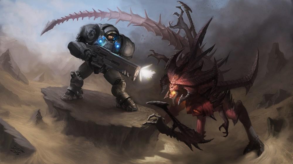 Raynor Vs Diablo by Douglas Deri