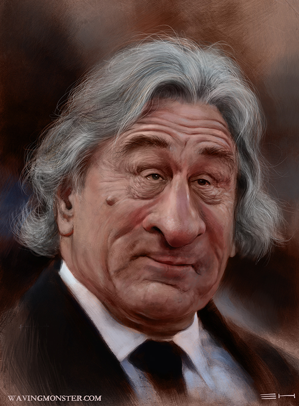 Deniro caricature by Emily Hare