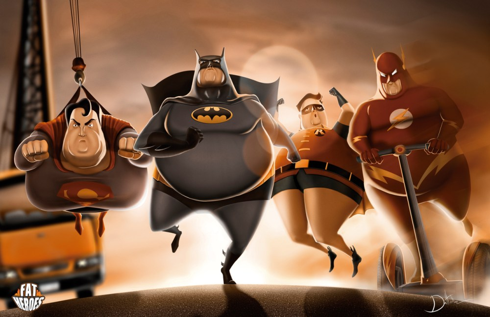 Fat Heroes DC by Carlos Dattoli