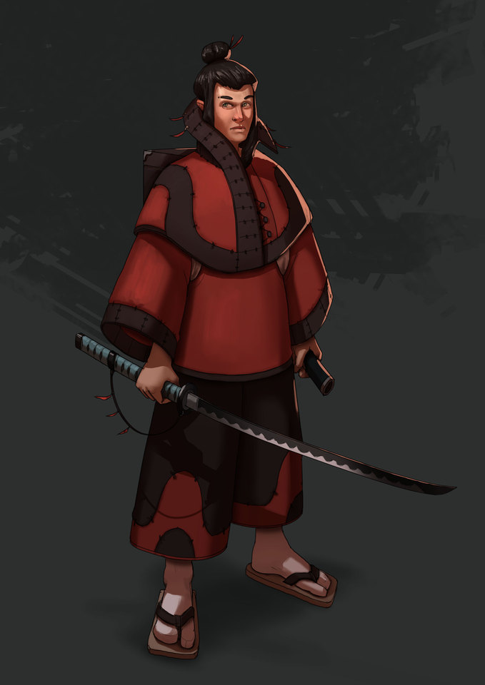 Swordsman, Samurai, D&D, Fantasy