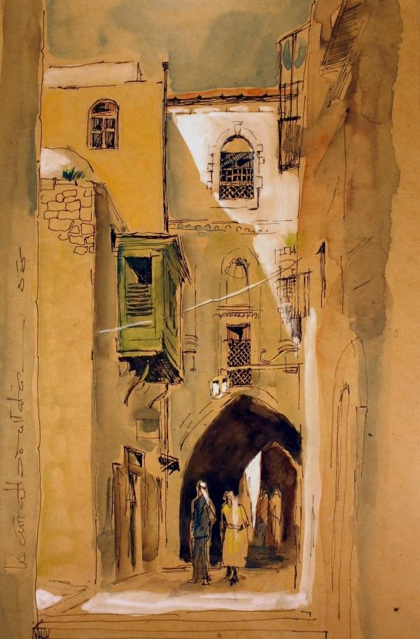 Paintings Jordan Mohanna Durra Rafiq Laham Abdullah Murad & Kamal Boullata