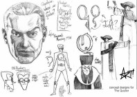 "Character design/style sheet for Big Bang Comics character ""The Quizler"""