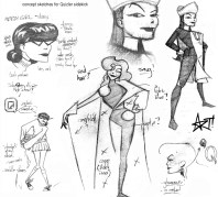 "Character design/style sheet for Big Bang Comics character ""Quizlet"""
