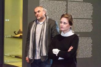 Ředitel Národní galerie Jíří Fajt a Tereza Ježková – PR manažer NG, foto©PetrSalek.com