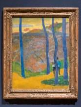 PAUL GAUGUIN, Modré stromy. Váš čas nastane, má krásko. Olej, jutové plátno, 1888