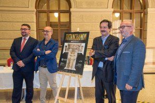 Výstava Tutanchamon RealExperience, Národní muzeum, na snímku: Michal Lukeš, Miroslav Bárta, Sandro Vannini, Alberto Rossetti