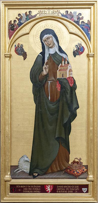 V listopadu 1999 byl v katedrále sv. Víta, Vojtěcha a Václava slavnostně odhalen deskový obraz sv. Anežky České. Autorem díla je Makarios Tauc, umělec, který v roce 1989 namaloval též kanonizační obraz svaté Anežky. Foto: Petr Šálek