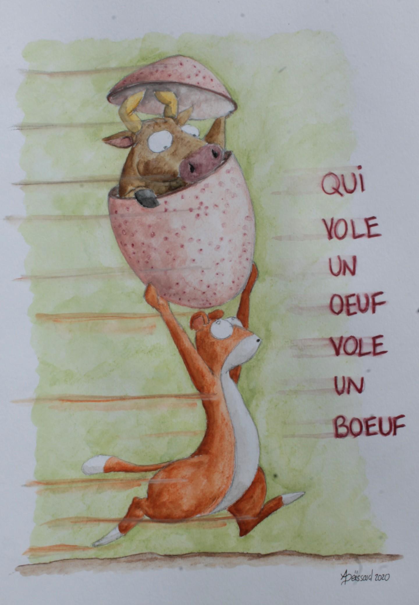 Qui Vole Un Oeuf Vole Un Boeuf : boeuf, Boeuf, Drawing, Monde, Mieux, Artmajeur