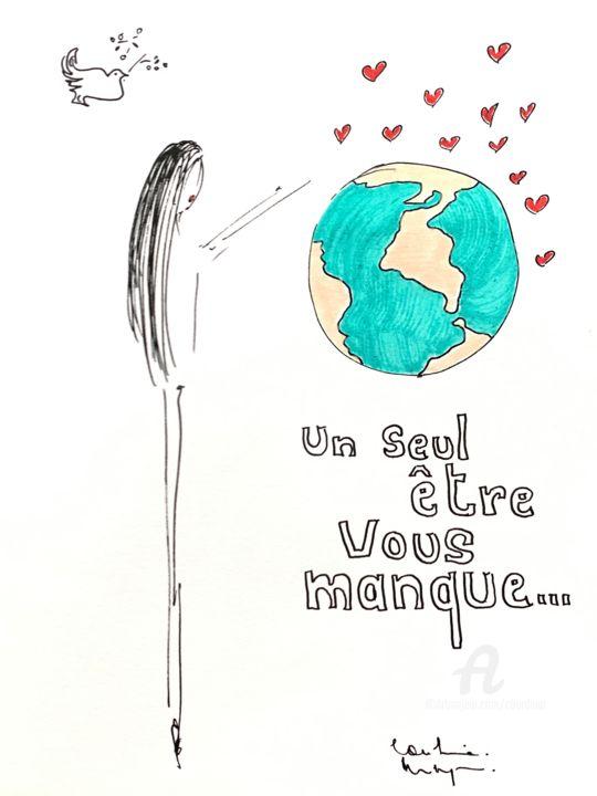 Un Seul Etre Vous Manque : manque, être, Manque, Drawing, Caroline, Montigneaux, Burdinat, Artmajeur