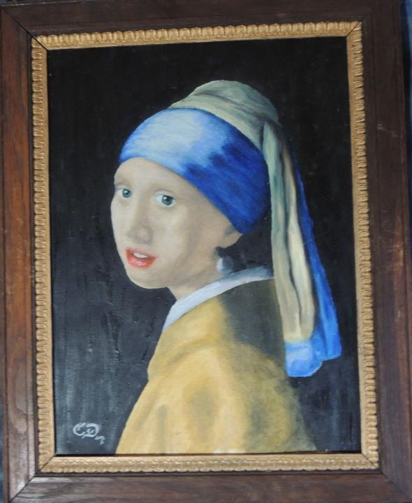Vermeer La Jeune Fille à La Perle : vermeer, jeune, fille, perle, Jeune, Fille, Perle, Painting, Charlie, Artmajeur