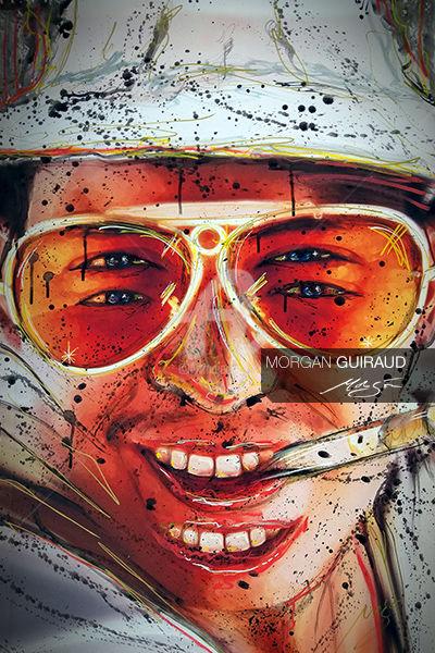 Las Vegas Parano Johnny Depp : vegas, parano, johnny, Vegas, Parano, Johnny, Painting, Morgan, Guiraud, (Morgon), Artmajeur