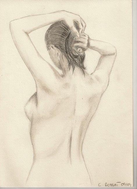 Photo De Femme De Dos : photo, femme, Drawing, Corinne, Perrot, Artmajeur