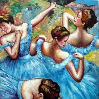 """Danseuses bleues"" vers 1897. Edgar Degas (1834-1917)"