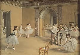 La Salle de ballet de l'Opéra, rue Le Pelletier (1872), huile sur toile, 33 × 46 cm, Paris, musée d'Orsay.