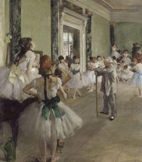 La Classe de danse (1874), huile sur toile, 85 × 75 cm, Paris, musée d'Orsay.