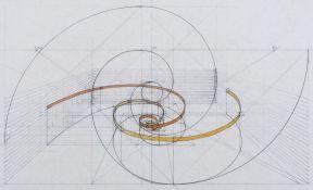 2 Fibonacci helixes