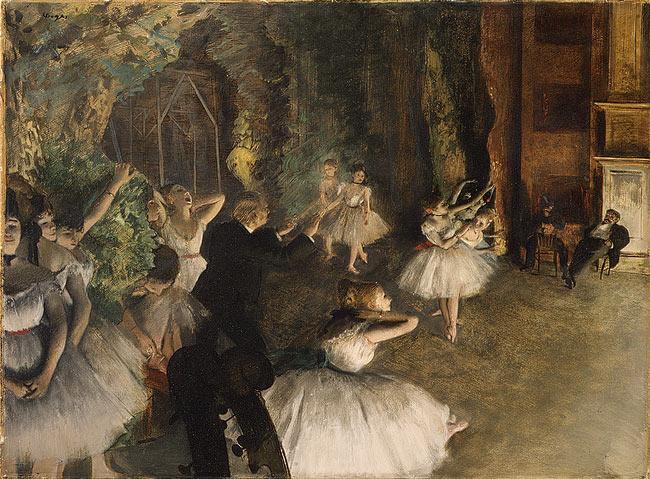 Balett-próba a színpadon, 1874, The Metropolitan Museum of Art, New York