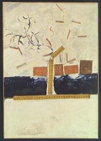 Francis Picabia: Centiméterek, 1923-1925, Israel Museum, Jeruzsálem, olaj és kollázs vásznon