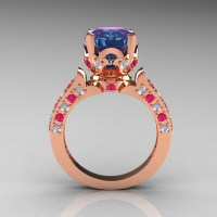 Alexandrite Wedding Ring Sets - Jewelry Ideas