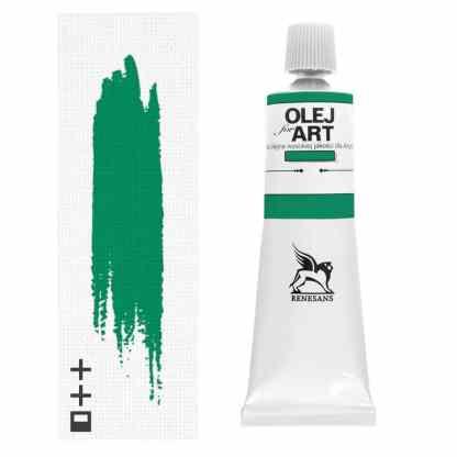 Масляная краска 39 Зеленый перманентный 60 мл Renesans Польша