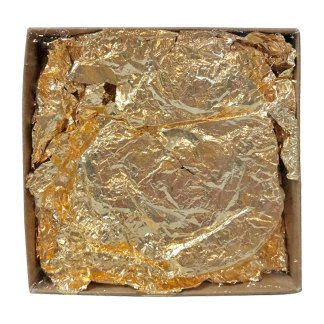 Поталь золото №2 декоративная мятая крупные куски 1г картон  имитация Schabin NSIF145-100006-B1