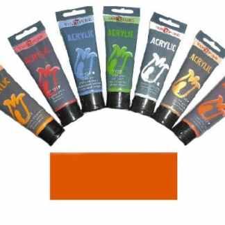 Акриловая краска 75 мл 007 оранжево-красная Van Pure
