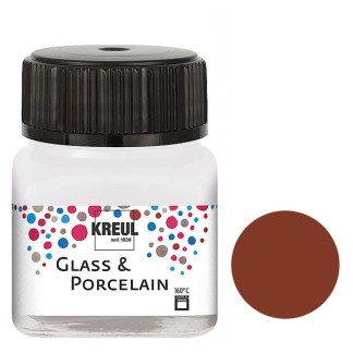 Краска по фарфору и керамике на водной основе KR-16229 Коричневая светлая 20 мл Hobby Line C.KREUL