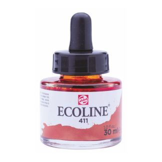 Акварельная краска жидкая Ecoline 411 Сиена жженая 30 мл с пипеткой