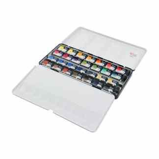 Набор акварельных красок «Классика» Rosa Gallery 28 цветов по 2,5 мл металлическая коробка