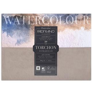 19100278 Альбом для акварели Watercolour Torchon Extra Rough 35,5х51 см 300 г/м.кв. 20 листов Fabriano Италия