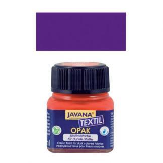 Краска по тканям и коже прочная нерастекающаяся KR-90957 Фиолетовый 20 мл Opak Javana C.KREUL