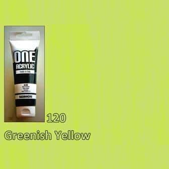 Акриловая краска ONE 120 мл 120 зеленовато-желтый Maimeri Италия