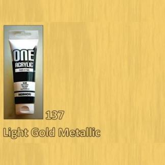 Акриловая краска ONE 120 мл 137 золото светлое Maimeri Италия