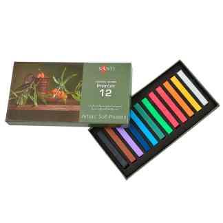 Набор сухой пастели «Premium» 12 цветов квадратная 353272 Santi